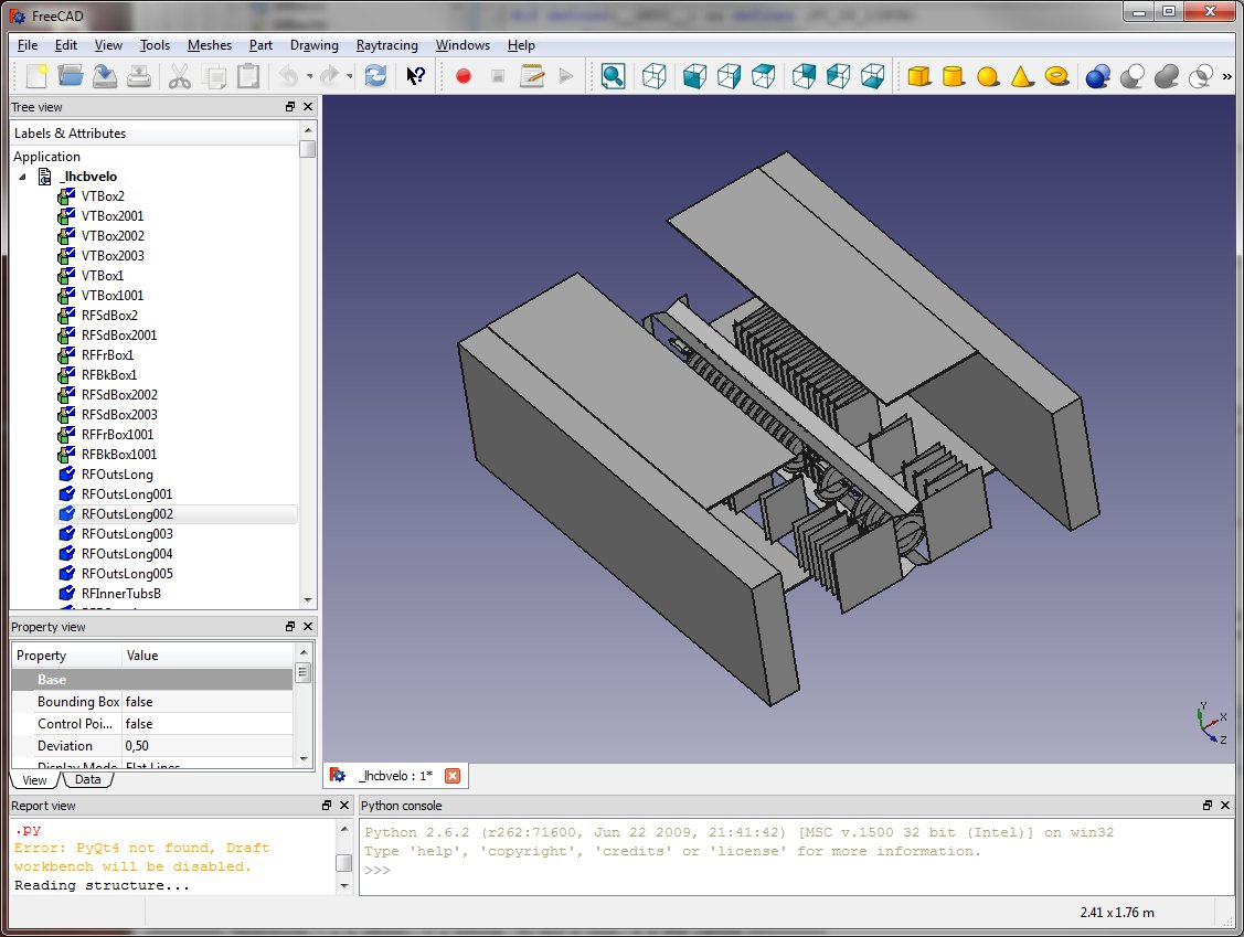 Support for importing exporting gdml file format in Free 3d cad software